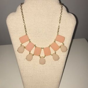 Kate Spade peach and gold necklace